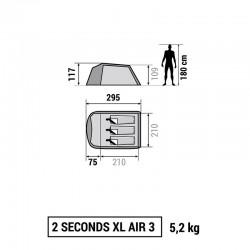 """Palapinė Quechua 2"""" XL AIR 3"""